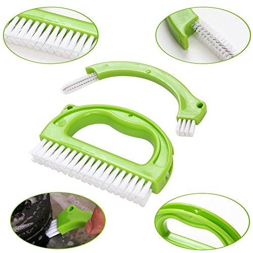 SKOOTAR - Best Tile Scrub Brushes Grout Cleaner 3 in 1 Heavy Duty cleaning for bathroom bathtub shower Floor Kitchen exfoliating deep cleansing polisher,Perfect for your home