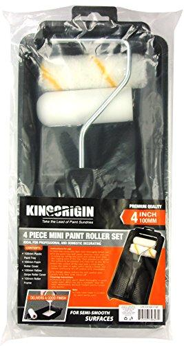 KingOrigin premium 4 inch Paint Roller Kit 4 Piece trim and touch roller kit 30004F