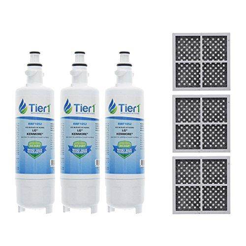 Tier1 LG LT700P, Kenmore 46-9690, ADQ36006101, ADQ36006102, and LT120F Water and Air Filter Combo 3 Pack