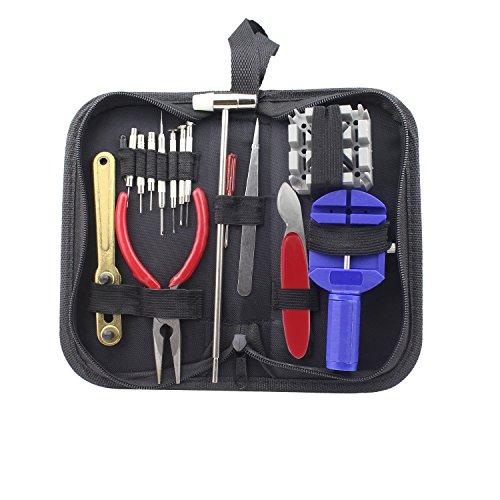 Watch Repair Tool Kit, WeiMeet Professional Spring Bar Removal Tool Sets Back Case Opener Watch Band Link Pin Remover Sets Screwdrivers Watchmaker Tool Sets with Carrying Case(16 Pcs)