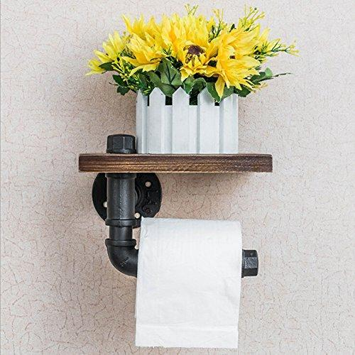 Toilet Paper Holder Creative Multifunction Industrial Steam Retro Style Toilet Water Pipe Hooks Multifunction Wall Mounted for Hanging Clothes Rack Hair Towel Rack Paper Holder/Toilet Water Pipe Hooks