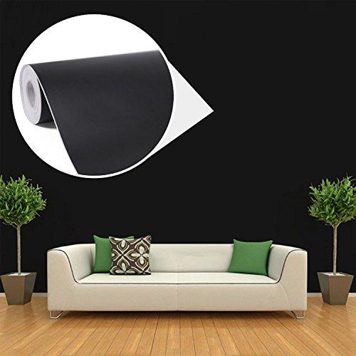Wallpaper Self-adhesive Wall Sticker Decoration for Furniture Bedroom Living Room Office-Black