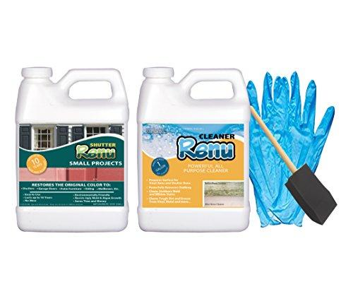 Shutter Renu Small Project Kit Is Everything You Need To Clean, Protect And Restore Color To Faded Shutters, Patio Furniture, Mailboxes And Front Doors. Easy To Use And Lasts 10 Years. No Toxic Odors