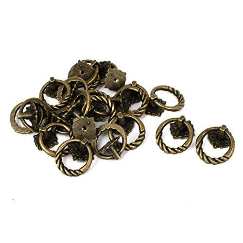 uxcell Furniture Showcase Door Box Retro Style Pull Handle Ring Knob 20pcs
