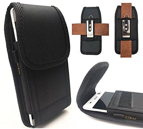 "ZZbag Heavy Duty Oxford Canvas Velcro Flap Horizontal/Vertical Belt Holster Rugged with Steel Metal Belt Clip+D Ring Hook【4.7""screen】for APPLE IPHONE 4S 4 5S 5 SE 6 6S 7 8 X"