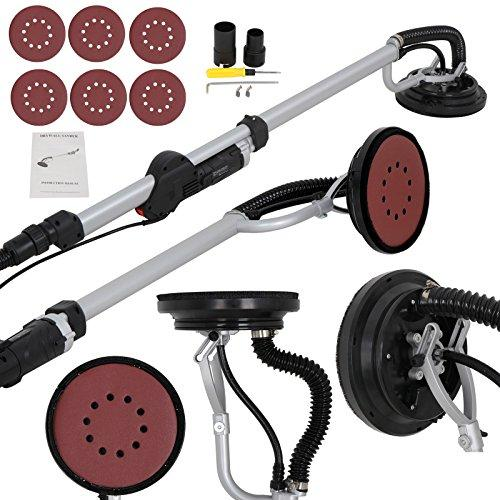 ZENSTYLE Electric 6 Speed Variable Drywall Sander 800W Swivel Drywall Disc Vacuum Sander with 6 Sand Pads