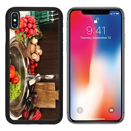 MSD Premium Apple iPhone X Aluminum Backplate Bumper Snap Case IMAGE ID: 35235963 Fresh vegetables in sink in kitchen