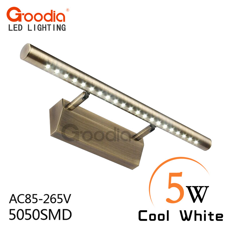 5W Retro wall lamps for home AC85-265V Stainless steel lighting bathroom 5050SMD Cold /Warm White wall lights led wall fixture