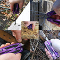 Multitool Wrench And Plier Set By OX Tools Set: Survival Multifunctional Multitools, Screwdrivers, Bottle Opener, Knife, Saw, LED Light For Camping, And Hiking – With Free Bonus Folding Cutlery Tool