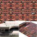 Wallpaper Self-adhesive Brick Effect Wall Sticker Decoration for Furniture Bedroom Living Room Office-Red