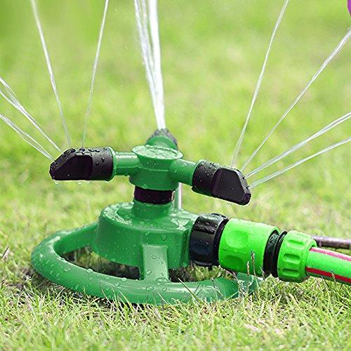 Water Sprinkler, 360 Degree Rotation Lawn and Garden Sprinklers System, Watering Automatically, Long Entertainment for Kids - JVR HE35
