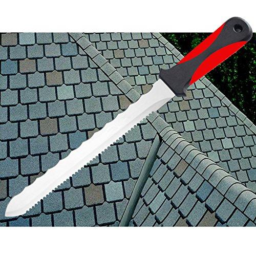 Keyfit Tools CUTS ALL KNIFE, Roofing Knife for roof shingles, Carpet Knife blade Double sided Stainless Steel Blade for trimming shingles/Works great on carpet, linoleum, drywall, vinyl flooring