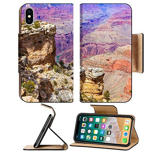 MSD Premium Apple iPhone X Flip Pu Leather Wallet Case Arizona Grand Canyon National Park Mother Point and Amphitheater USA Image ID 23997868