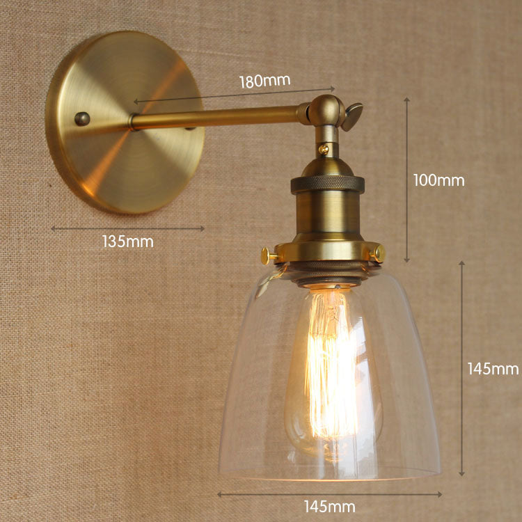 Glass Vintage Wall Lamp Home indoor Lighting Antique Edison Style Loft Industrial Wall Light Sconces Applique LED