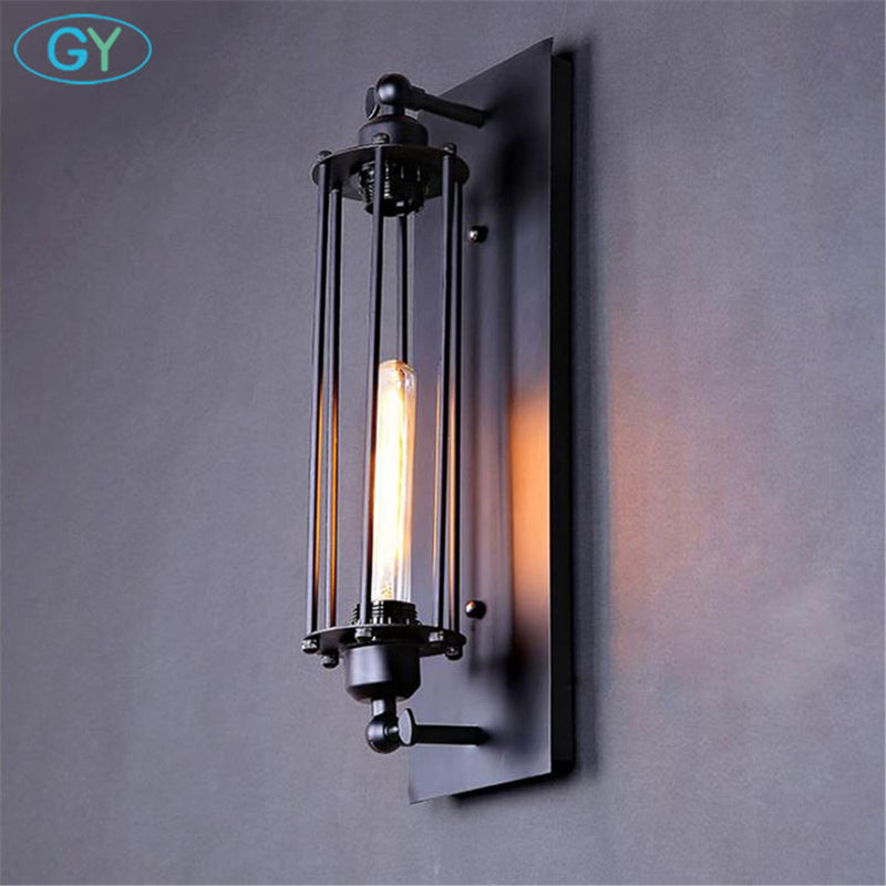 Industrial retro wall sconce lamp European American country style T300 Edison Tube bulb wall lamp Black art decorative sconces
