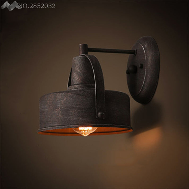 JW Vintage Wall Lamp Retro Loft LED Wall Light Plated Industrial Lamparas De Pared Stair Bathroom Iron Sconce Abajur Luminaria