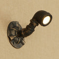 LED Loft Industrial American style iron rust Water pipe retro wall lamp sconce lights for living room restaurant bedside kitchen