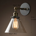 Loft Glass Wall Lamp Vintage Wall Light Bedroom Industrial Wall Sconce Home Bathroom Light Lighting Fixtures Lampara De Pared