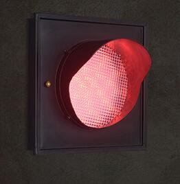 Loft creative traffic light wall lamp restaurant corridor corridor bar color cafe, wrought iron wall lamp, personality