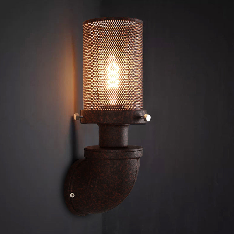 Loft retro lamp vintage iron pipe wall light corridor pub cafe restaurant aisle bedside living room wall lamp bra wall sconce