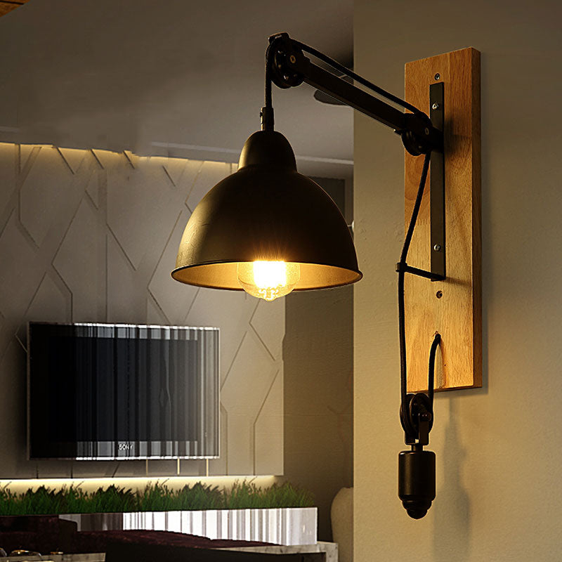 Loft retro lamp vintage lifting pulley wall lamp dining room restaurant aisle corridor pub cafe wall lamp bra wall sconce