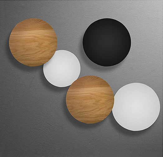 Minimalism LED Wall Mounted Lamp Painted Metal Round Moon LED Wall Light Contemporary Modern Wall sconce Lamp Bedside Light