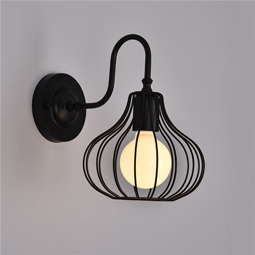 Modern Colorful Iron Birdcage Wall lamp E27 Creative Personality Wall light for Restaurant coffee shop bedroom foyer