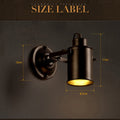 Modern LED Sconce Lighting Wall Mounted Black Metal Vintage Wall Lamp Russia Dining Bedside Reading Lights Lamparas De Pared