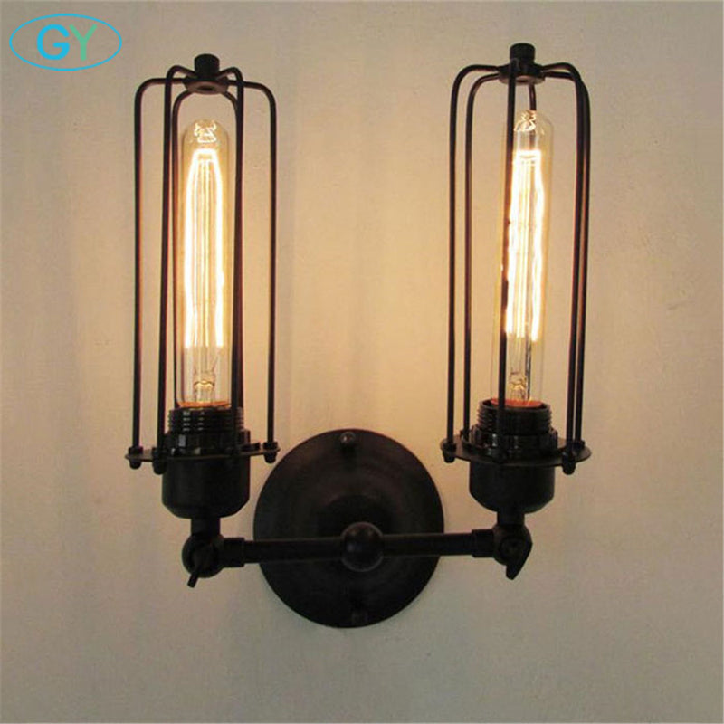 Nordic American retro minimalist loft headed Gladiator Wall lamp lights lampe de chevet de chambre sconces applique murale