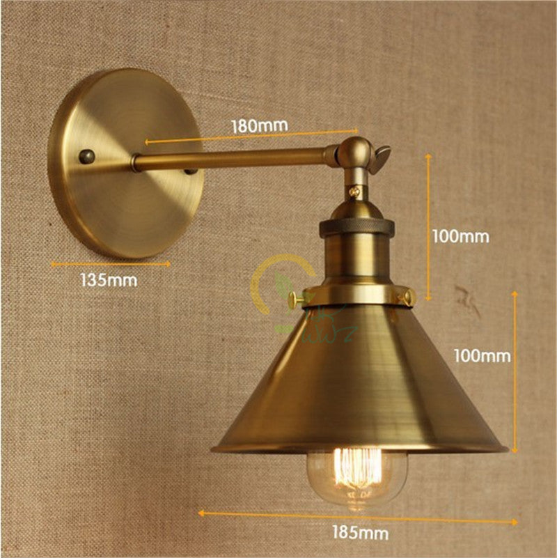 Retro Iron Brass Vintage Wall Lamp Light For Cafe Room Edison Wall Sconce Arandela In America Loft Industrial Style Wall Lights