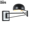 Rocker led modern minimalist bedside retractable study reading  wall lights swing arm telescopic folding dimming sconces lamps