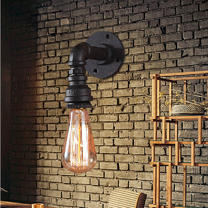 Rustic Wall Light  Lamp Wter Pipe Classic Iron Wall Bathroom Vintage Industrial Lighting Bedroom Loft Lamps  Sconce Light