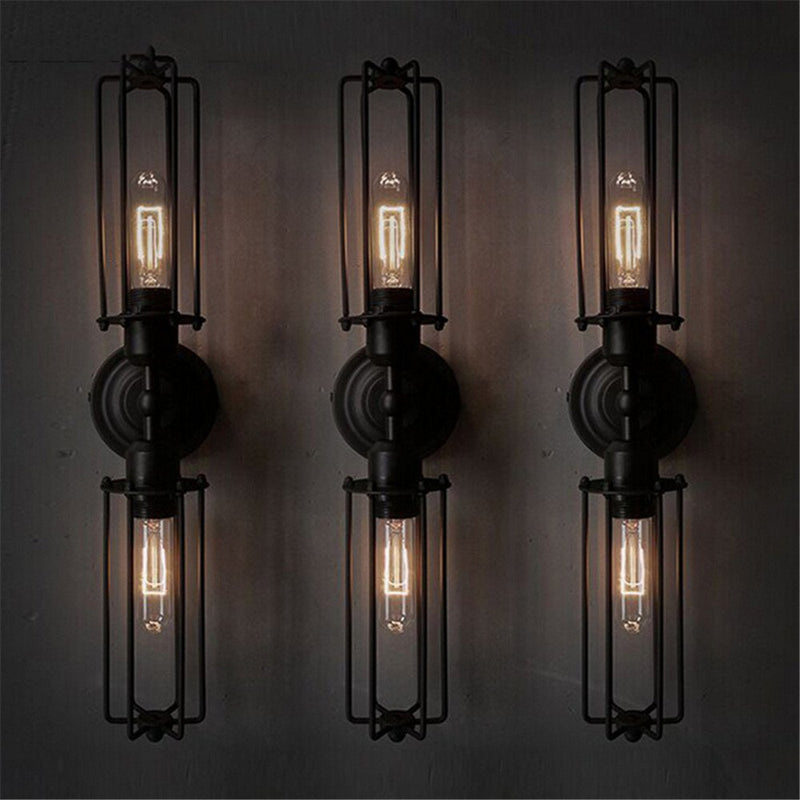 SINULL ART Black Antique Wall Light Bedside Bathroom Vintage Wall Lamp Indoor Home Decor Industrial Lighting Fixtures AC85-265V