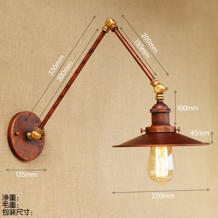 Style Loft Vintage Wall Light Fixtures Swing Long Arm Wall Lamps Edison Industrial Wall Sconce Arandelas Wandlamp