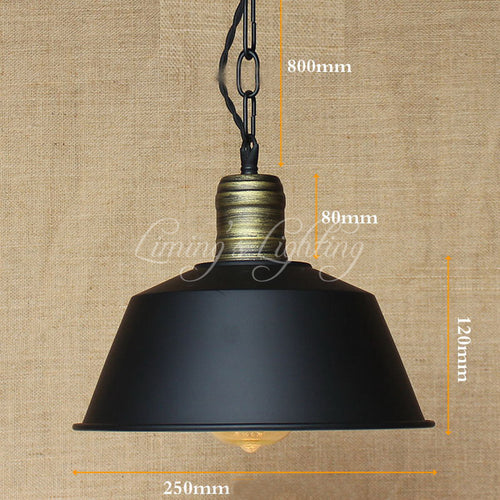 Vintage Hanging Hardware Lighting Pendant  Lights Loft Retro Industrial Metal Shade Pendant Lamp Kitchen Bar Coffee Lights