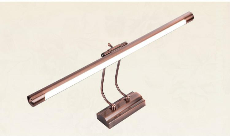 Vintage Retro Classical Aluminum Acryl Long Led Mirror Light For Bathroom Waterproof Anti-fog Wall Lamp 55cm Ac 80-265v 1099