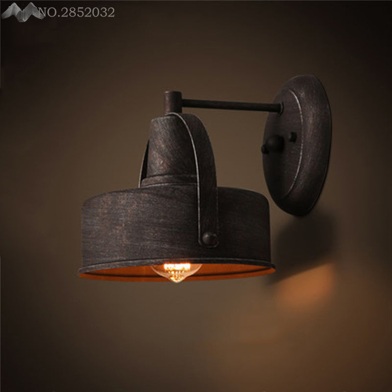 Vintage Wall Lamp Retro Loft LED Wall Light Plated Industrial Lamparas De Pared Stair Bathroom Iron Wall Sconce Abajur Luminaria