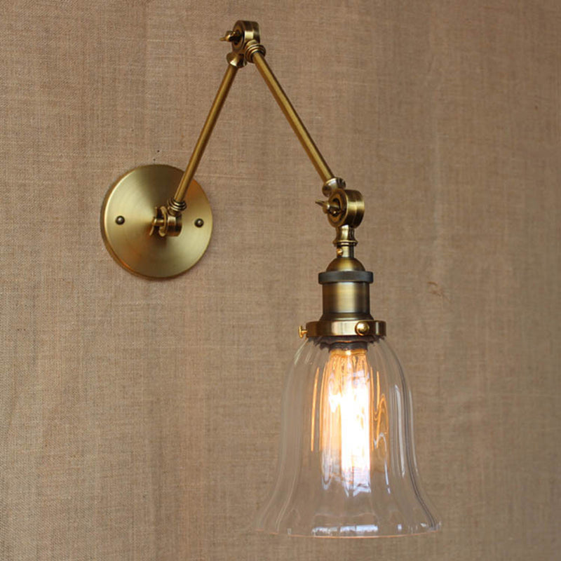 Wall Sconces Lamp Flexible Swing Arms Lights Industrial Lighting Sconce Light Bathroom Brace Retro Bronze Color Vintage Loft Led
