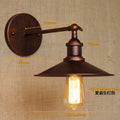 White Glass Retro Wall Lights Fixtures Wandlampen Rustic Style Loft Industrial Wall Sconce Vintage Edison Appliques Pared