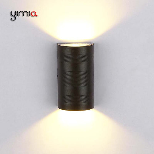 YIMIA IP65 Outdoor Lighting LED Wall Lamps Indoor Modern Courtyard Aisle Balcony Bedroom Wall Lights Nordic Hotel Project Lamps