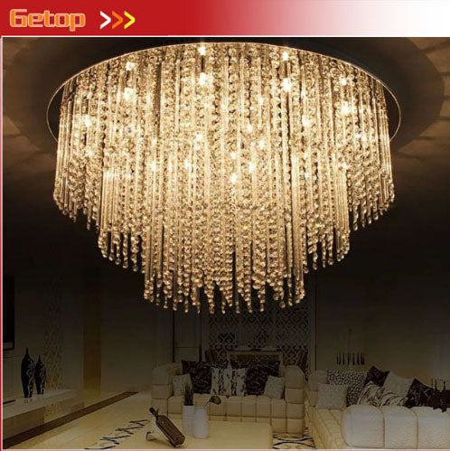 ZYY Modern LED Crystal Ceiling Lamp Round Crystal Lamp Living Room Restaurant Bedroom Crystal Ceiling Lamp Indoor Lightings