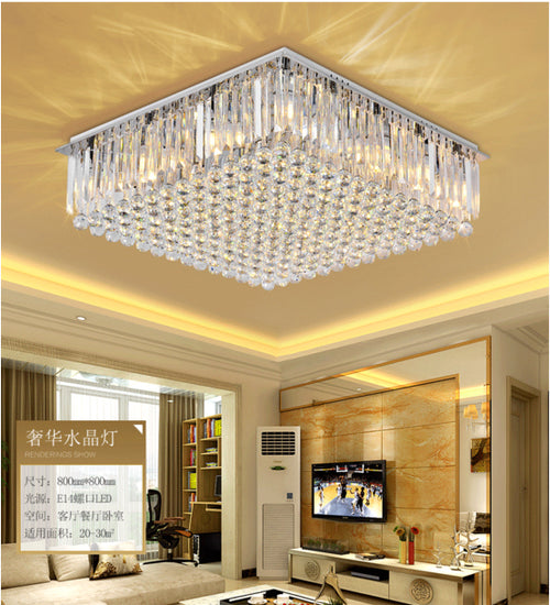 ZYY Modern Luxury  K9 Crystal Chandelier LED Lighting LivingRoom Restaurant Crystal Ceiling Lamp E14 Indoor Lighting Fixture