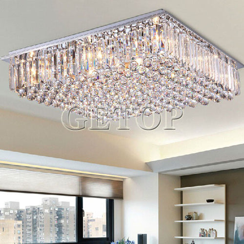 ZYYModern Luxury Clear K9 Crystal Chandelier LED Lighting LivingRoom Restaurant Crystal Ceiling Lamp E14 Indoor Lighting Fixture