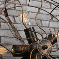 vintage wall lamp with Edison Bulb Country Industrial Style Wrought Fan warehouse Wall Lamps for Cafe Bar Restaurant