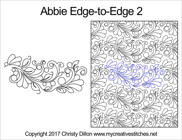 Abbie (Edge To Edge Mail In Quilting Service Deposit) Services