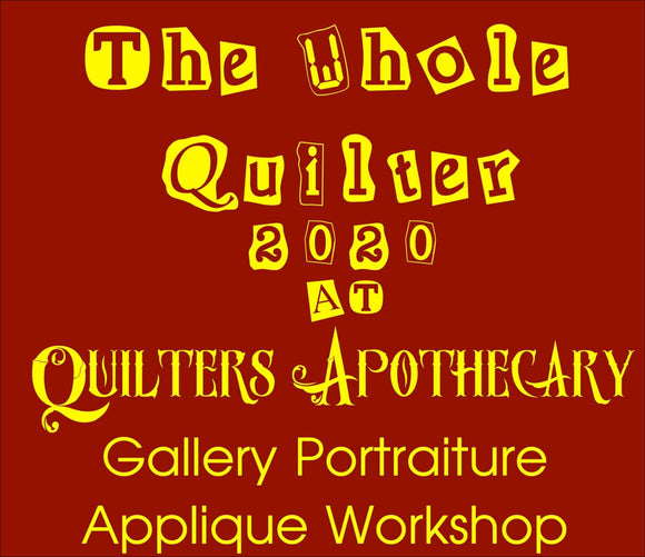 Gallery Portraiture Appliqué Workshop June 28 & 29 2020