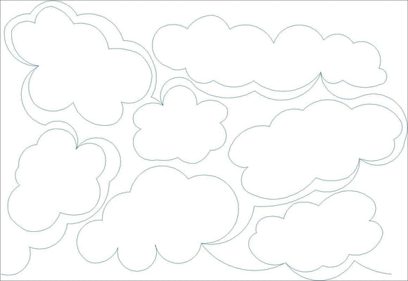 Clouds (Edge To Edge Mail In Quilting Service Deposit) Services