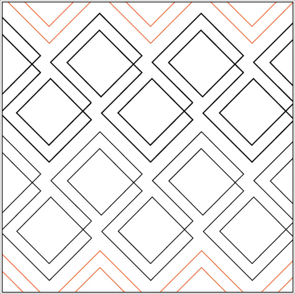 DIAGONAL PLAID (Edge to Edge Mail in Quilting Service Deposit)
