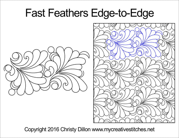 Fast Feathers By Christy Dillion (Edge To Edge Mail In Quilting Service Deposit) Services