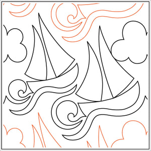 Let's go Sailing (Edge to Edge Mail in Quilting Service Deposit)